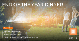 End of Year dinner banner